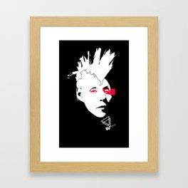 "lip Bitch ""punk b"" by Javier Largen Framed Art Print"