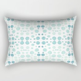 Dots, dots and more dots - blue, green & turquoise Rectangular Pillow