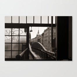 BERLIN TELETOWER - urban landscape Canvas Print