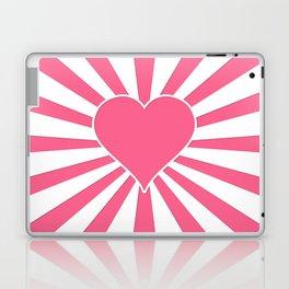 Midi Pink Valentine Sweetheart Sun rays Laptop & iPad Skin