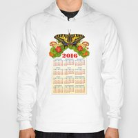 calendar Hoodies featuring 2016 Decorative Calendar by Patricia Shea Designs