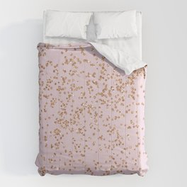 Rose gold diamond confetti Comforters