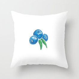 Why So Blueberry? Throw Pillow
