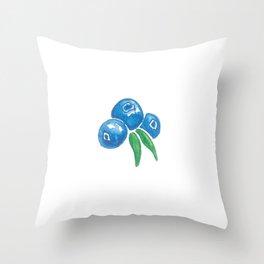 Why So Blueberry? Throw Pillow