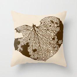 Leaf Skeleton Throw Pillow