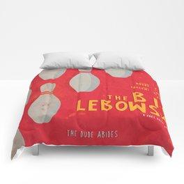 The Big Lebowski - Movie Poster, Coen brothers film, Jeff Bridges, John Turturro, bowling Comforters