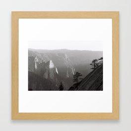 Last light on Yosemite Framed Art Print