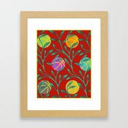 Basketball Flowers Framed Art Print