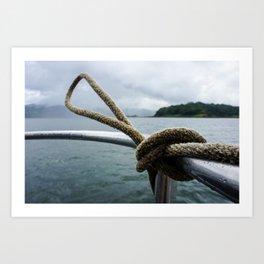ARENAL LAKE Art Print