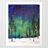 northern lights Art Prints featuring Northern Lights by Ruth Oosterman