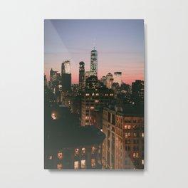 New York Skyline Views Metal Print