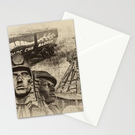 Mining Tribute Antique 2 Stationery Cards