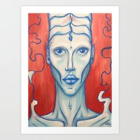 Blue Matter Art Print