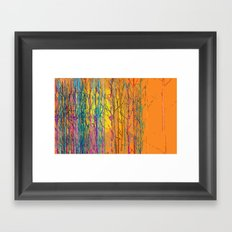 orange forest Framed Art Print