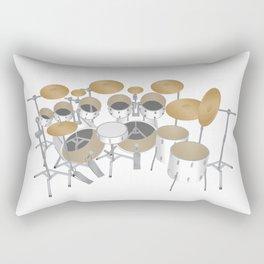 White Drum Kit Rectangular Pillow