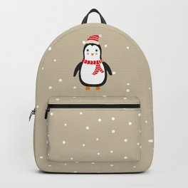 """Cute Penguin wishes """"Merry Christmas"""" - X-mas Christmas Winter Design Backpack"""