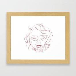 Face 1 Framed Art Print
