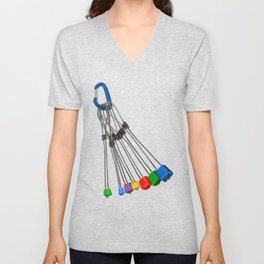 Rock Climbing Wires Unisex V-Neck