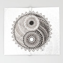 Ying Yang Throw Blanket
