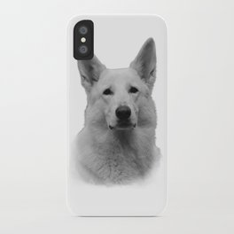 White german shepherd iPhone Case