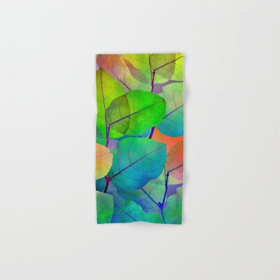 Translucent Leaves Hand & Bath Towel