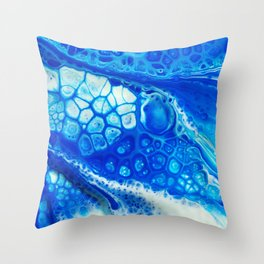 Blue cells Throw Pillow