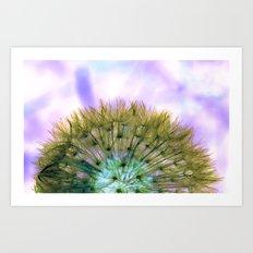 Dandelion Sunrise Art Print