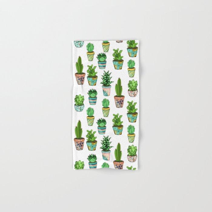 Green cactus Hand & Bath Towel