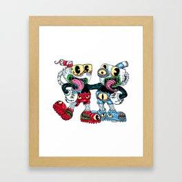 Monster Cups Framed Art Print