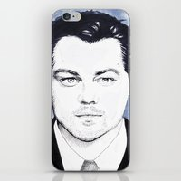 leonardo dicaprio iPhone & iPod Skins featuring Leonardo DiCaprio by beecharly