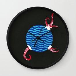 Planet Octopi Wall Clock