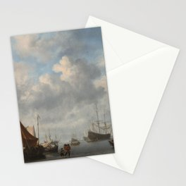 Willem van de Velde the Younger - Entrance to a Dutch Port Stationery Cards