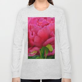Dark Pink Tree Peony by Teresa Thompson Long Sleeve T-shirt