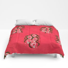 Foxgloves in Red Comforters