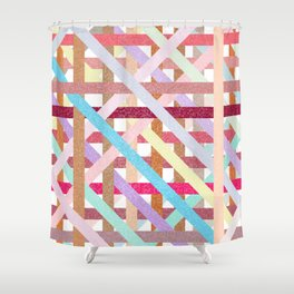 Structural Weaving Lines Shower Curtain