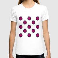 ikat T-shirts featuring Ikat Dots Raspberry Plum by Jacqueline Maldonado