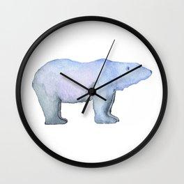 Les Animaux: Polar Bear Wall Clock