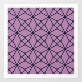 Lilac Geometric Pattern Art Print