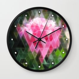 Pink Roses in Anzures 6 Art Triangles 2 Wall Clock