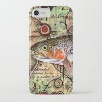 trout iPhone & iPod Cases featuring Trout Collage by MoosePaw