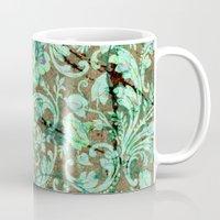 flower pattern Mugs featuring Flower pattern by nicky2342
