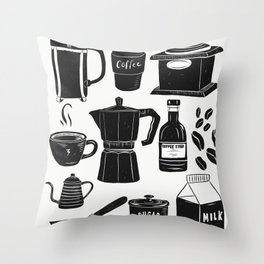 Coffee Culture Throw Pillow