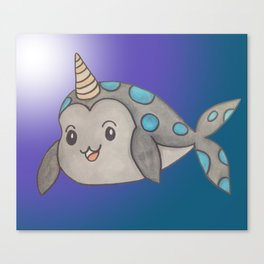 tiny narwhal Canvas Print