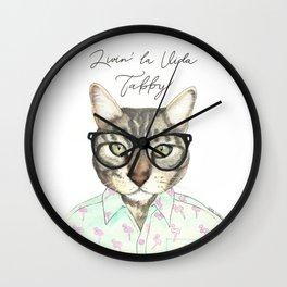 Livin' La Vida Tabby Wall Clock