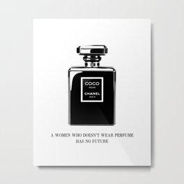 Quote print, Fashion, Perfume, Scandinavian, Minimalist, Wall Art Metal Print