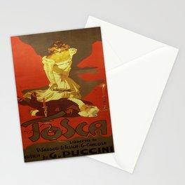 Vintage poster - Tosca Stationery Cards