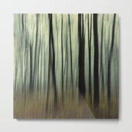 blurred woods Metal Print