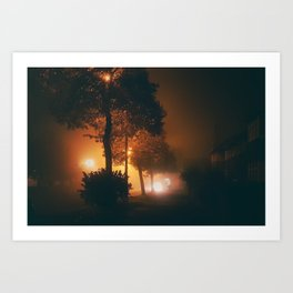 Another Foggy Night Art Print