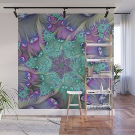 Find Yourself, Abstract Fractal Art Wall Mural