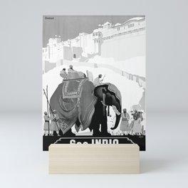 retro monochrome See India Mini Art Print